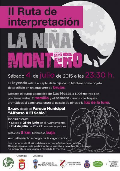 Marcha Senderismo Verano La Niña Montero.